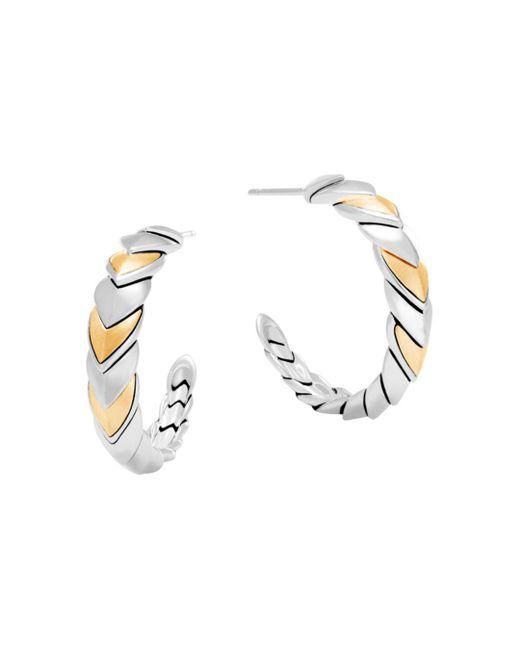 John Hardy - Metallic 18k Gold And Sterling Silver Legends Naga Hoop Earrings - Lyst