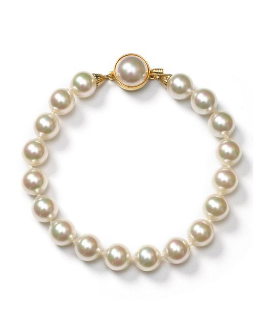 Majorica | White Simulated Pearl Bracelet | Lyst