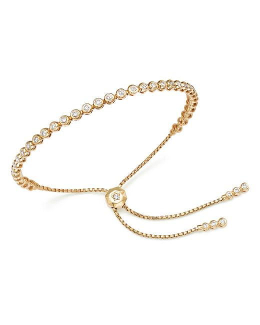 Lyst Bloomingdale S Diamond Bezel Tennis Bolo Bracelet In 14k