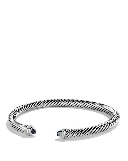 David Yurman - Black Cable Classics Bracelet With Semiprecious Stones & Diamonds - Lyst