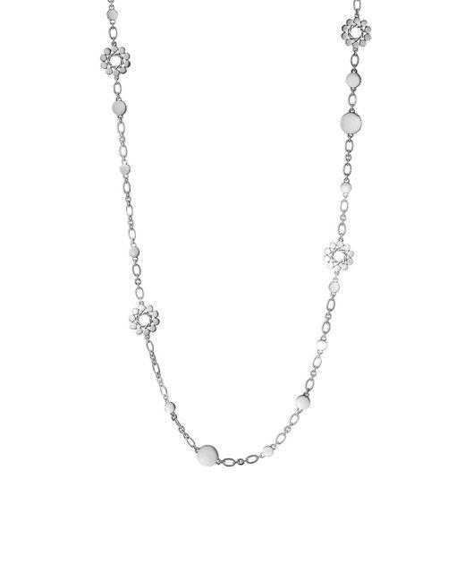 "John Hardy | Metallic Dot Silver Flower Station Sautoir Necklace, 36"" | Lyst"