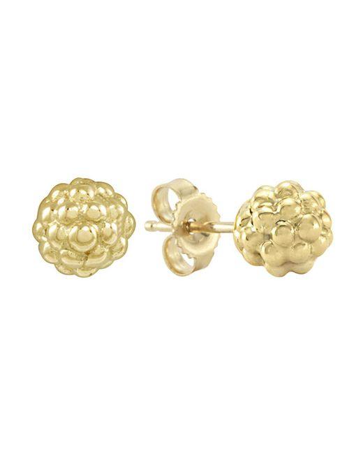 Lagos | Metallic 18K Gold Stud Earrings | Lyst