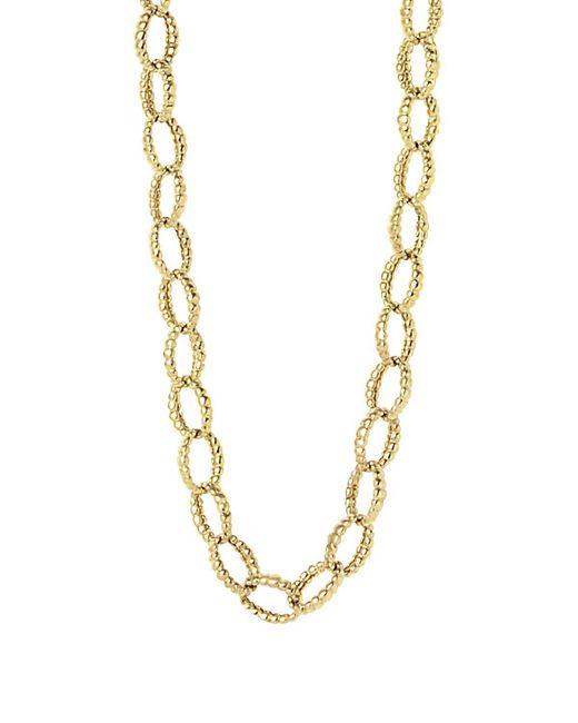 "Lagos | Metallic 18k Gold Link Necklace, 18"" | Lyst"