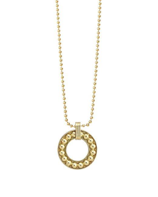 "Lagos   Metallic 18k Gold Circle Pendant Necklace, 16""   Lyst"