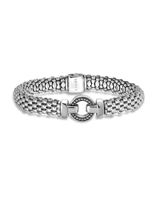 Lagos   Metallic Sterling Silver Beaded Bracelet   Lyst