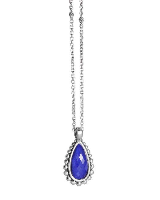 """Lagos   Blue Lapis Doublet Pendant Necklace, 16""""   Lyst"""