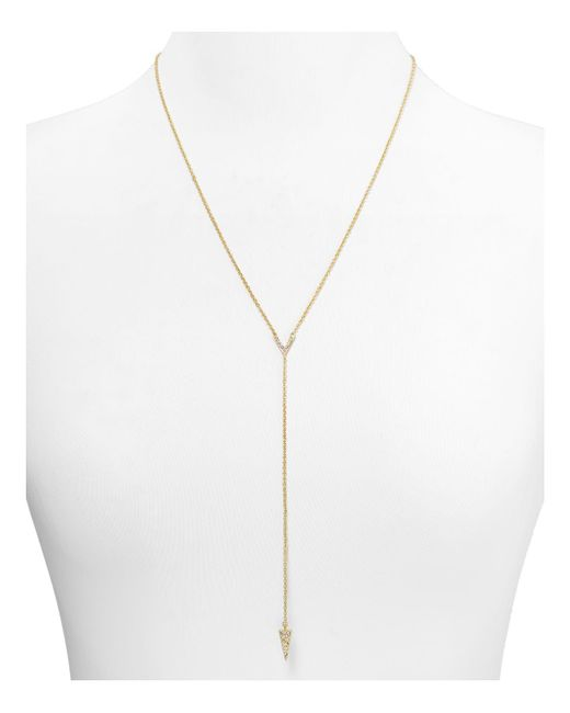 Rebecca Minkoff | Metallic Y Pave Necklace, 21"