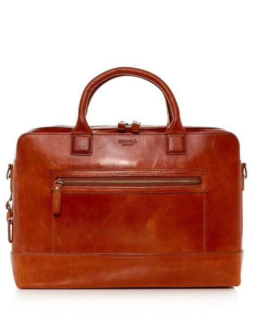 Shinola - Multicolor Bedrock Leather Briefcase for Men - Lyst