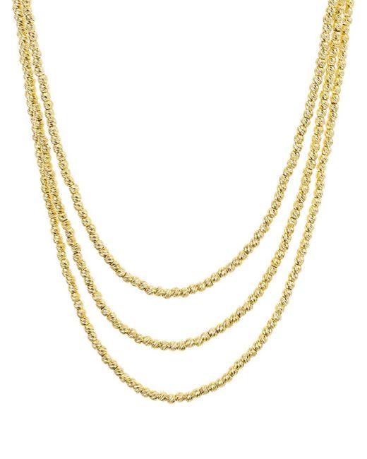Aqua Metallic Sterling Layered Sparkle Necklace