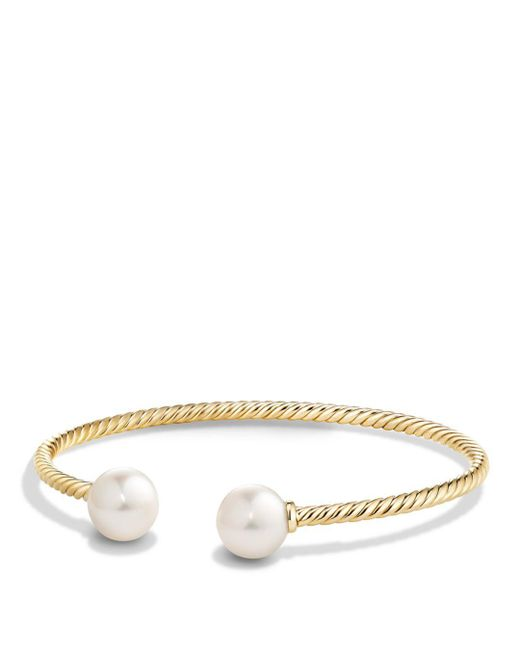 David Yurman - Metallic Solari Pearl Bead Cuff Bracelet In 18k Gold - Lyst