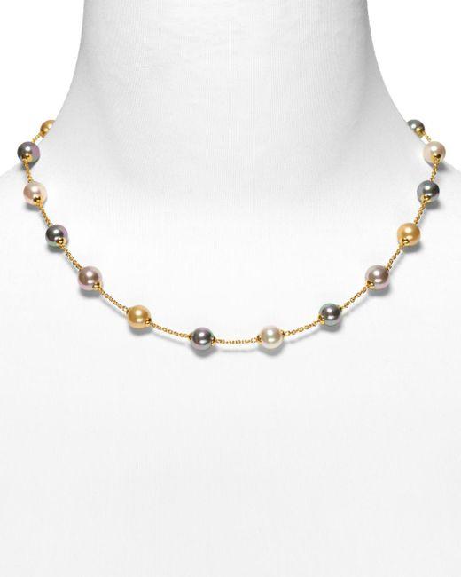 Majorica Multicolor Illusion Simulated Pearl Necklace