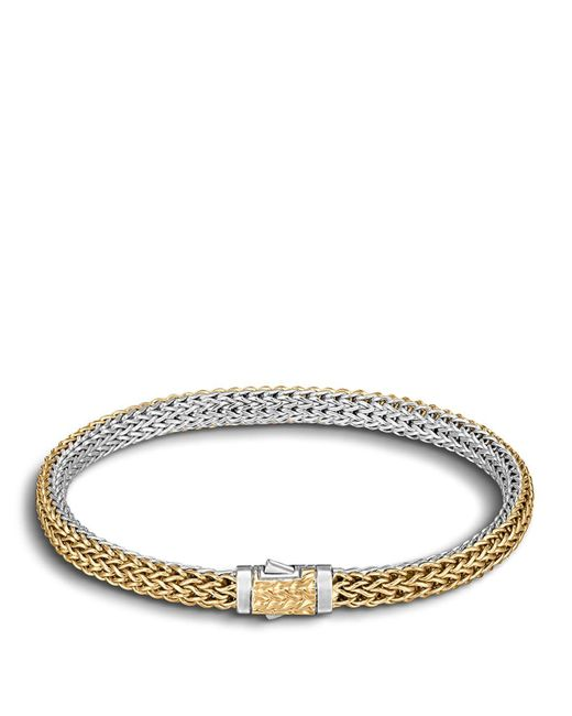 John Hardy | Metallic Classic Chain Gold & Silver Extra-small Reversible Bracelet | Lyst