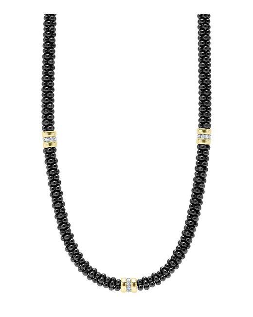 Lagos - 'black Caviar' Station Necklace - Lyst