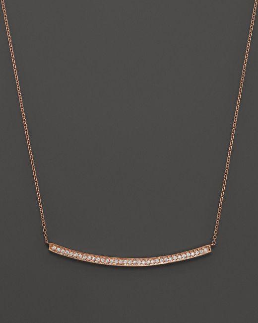 "Dana Rebecca | Pink 14k Rose Gold Diamond Sylvie Rose Long Necklace, 17"" | Lyst"