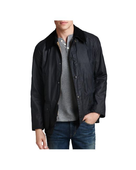Barbour | Blue Ashby Tailored Waxed Cotton Coat for Men | Lyst