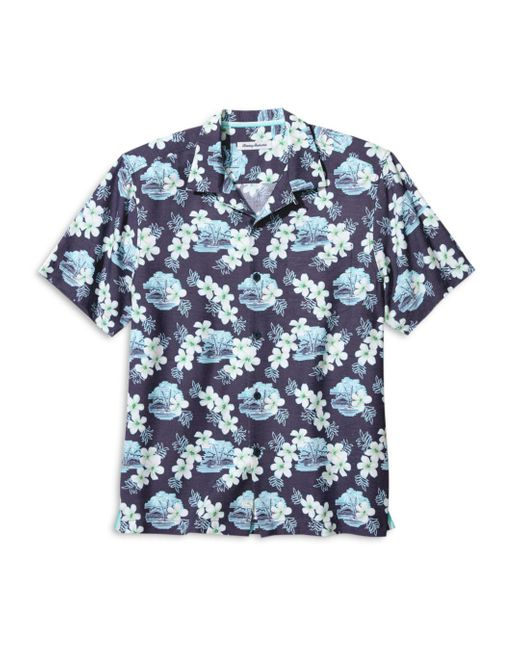 Tommy Bahama Blue Coconut Point Surf Shack Regular Fit Camp Shirt for men