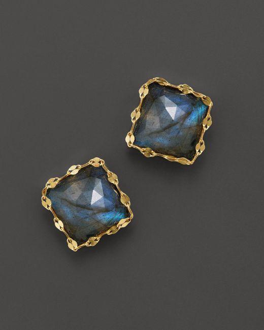 Lana Jewelry | 14k Yellow Gold Ultra Stud Earrings With Labradorite | Lyst