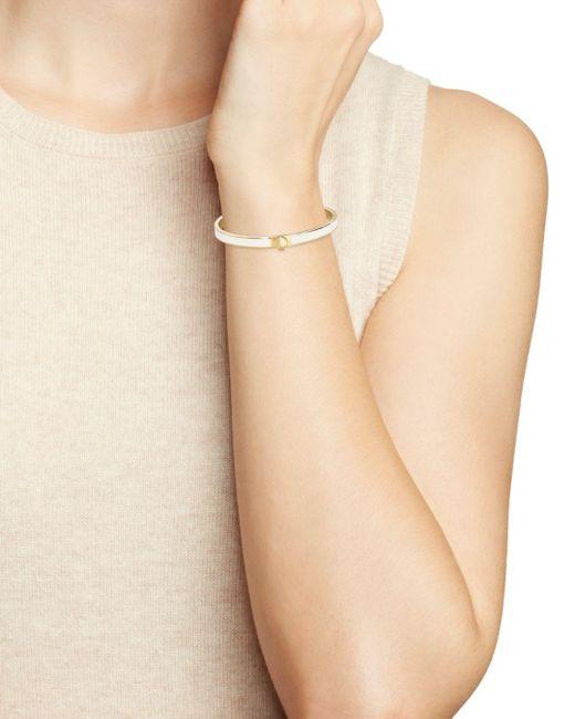 Kate Spade White Spade Thin Bangle Bracelet