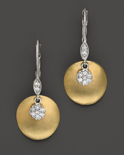 Meira T - Metallic 14 Kt. Yellow Gold/diamond Drop Earrings - Lyst