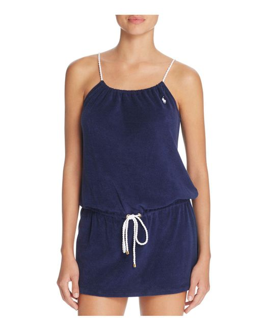 Ralph Lauren | Blue Polo Terry Rope Dress | Lyst