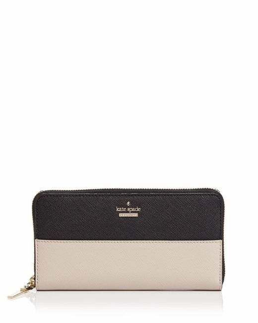 Kate Spade - Black Cameron Street Lacey Color Block Saffiano Leather Wallet - Lyst