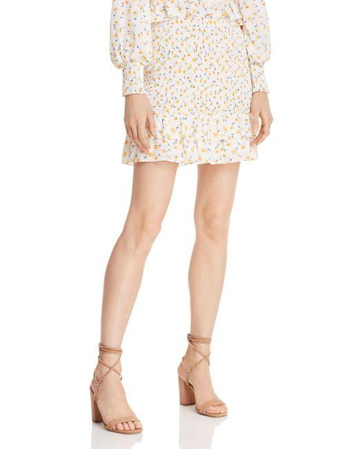 Aqua White Helen Owen X Floral Smocked Skirt