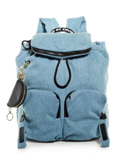 See By Chloé Blue Joy Rider Denim Backpack
