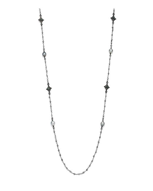 Armenta | Metallic Champagne Diamond And Tourmaline Beaded Cravelli Station Necklace | Lyst