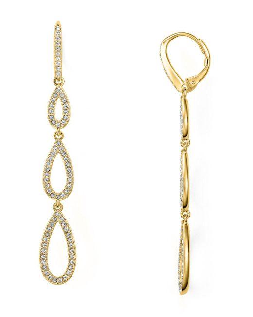 Nadri - Metallic Teardrop Earrings - Lyst