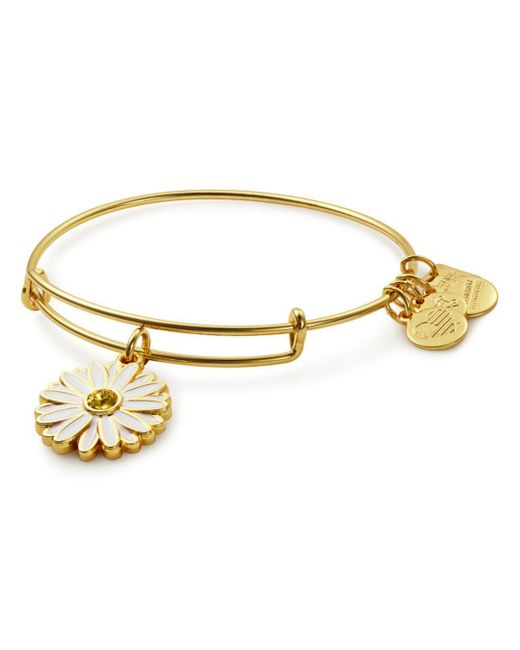 ALEX AND ANI - Metallic Daisy Expandable Wire Bangle - Lyst