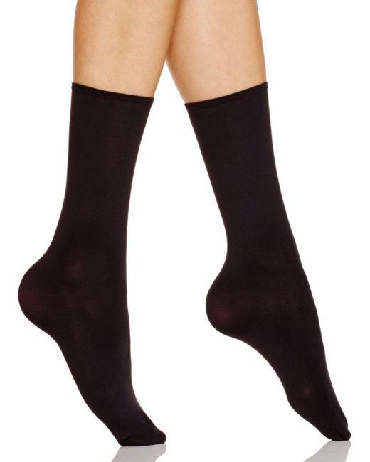 Hue - Black Opaque Anklet Socks - Lyst