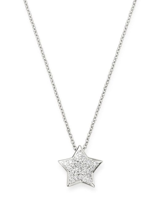 Bloomingdale's Pavé Diamond Star Pendant Necklace In 14k White Gold