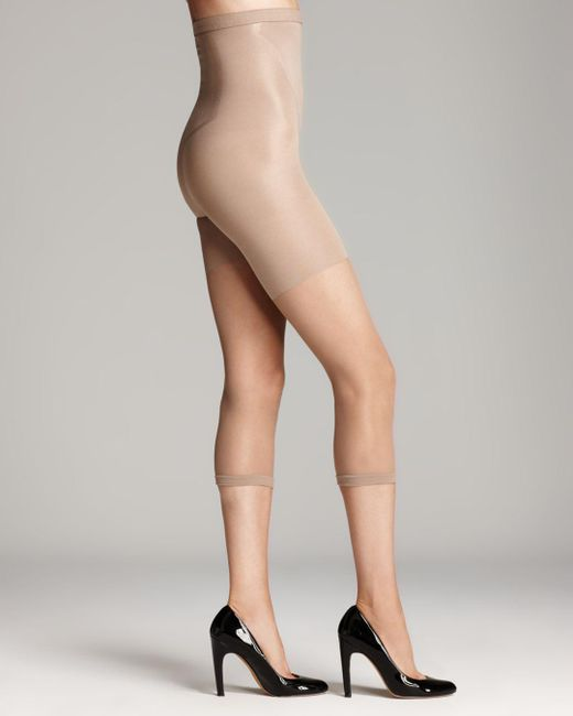 Spanx - Natural In-power Line Super Footless Shaper Capri Tights - Lyst