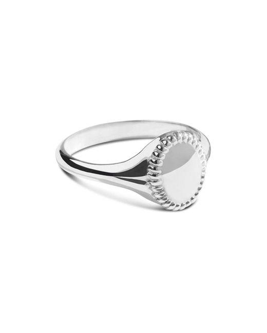 Shinola - Metallic Sterling Silver Coin Edge Petite Signet Ring - Lyst