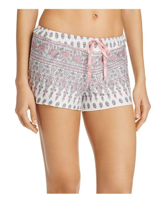 Pj Salvage | Natural Floral Paisley Shorts | Lyst