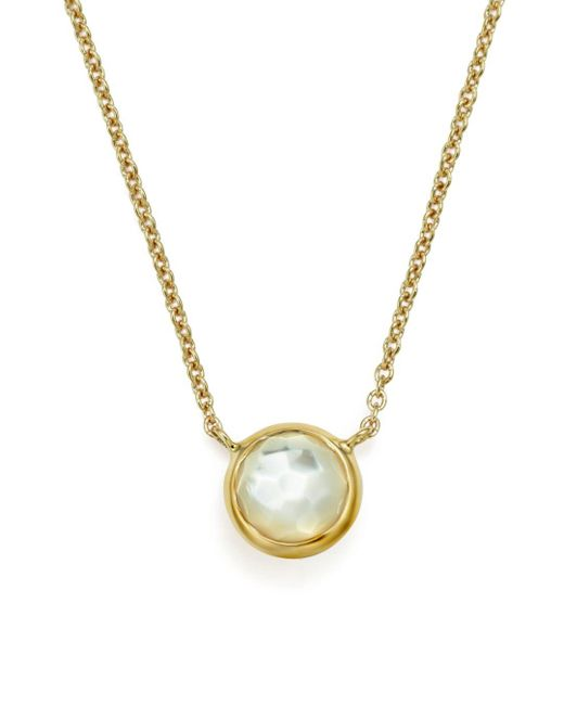 Ippolita White 18k Gold Mini - Lollipop Necklace In Mother - Of - Pearl