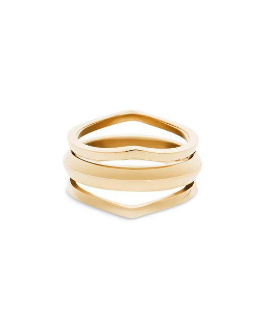 Michael Kors   Metallic Multi Band Ring   Lyst