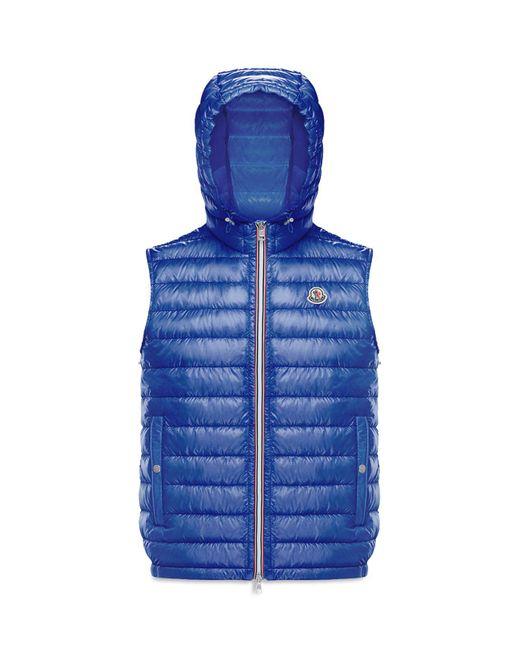 Moncler - Blue Gien Hooded Vest for Men - Lyst
