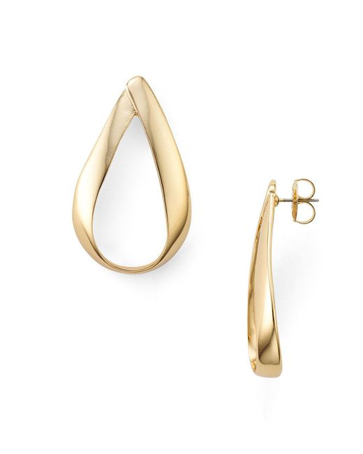 Robert Lee Morris | Metallic Wavy Teardrop Earrings | Lyst