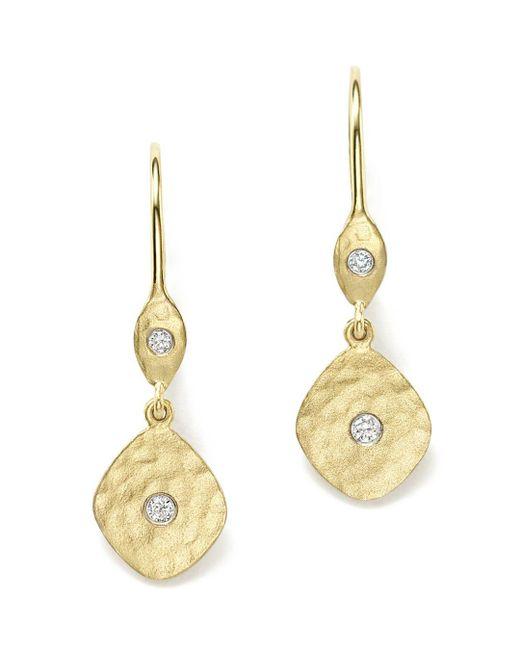 Meira T - Metallic 14k Yellow Gold Kite Disc Earrings With Diamonds - Lyst