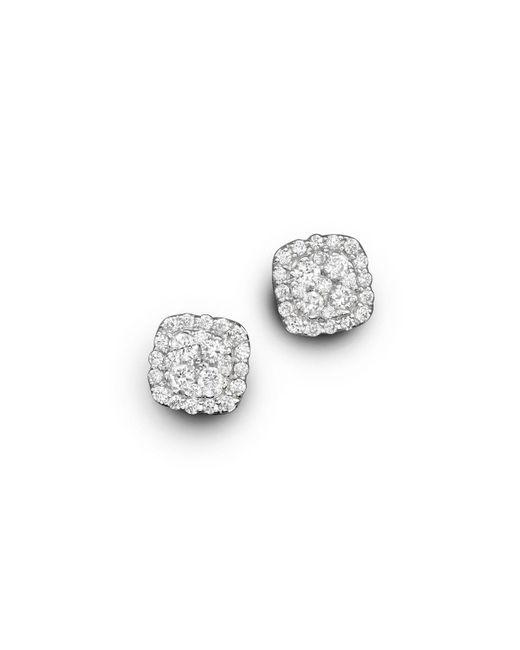 Bloomingdale's - Diamond Cluster Stud Earrings In 14k White Gold, .50 Ct. T.w. - Lyst