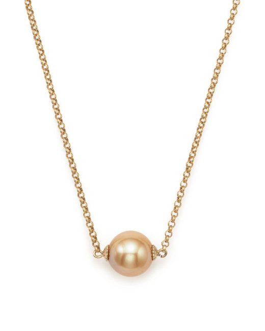 "Bloomingdale's - Metallic Cultured South Sea & Natural Color Golden Pearl Pendant Necklace In 14k Yellow Gold, 18"" - Lyst"