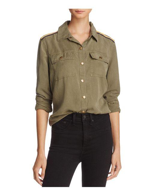 Splendid | Green Military Shirt | Lyst