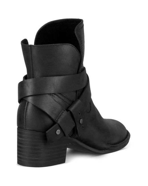 9c43bf574b8 Black Women's Elysian Round Toe Leather Mid - Heel Booties