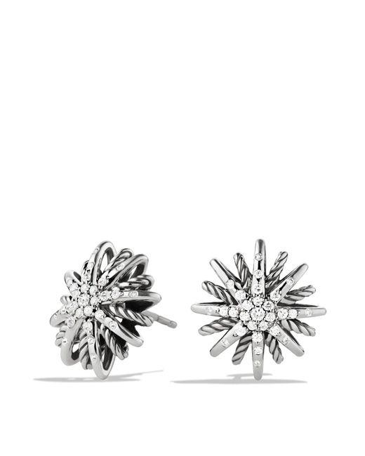 David Yurman - Metallic Starburst Small Earrings With Diamonds - Lyst