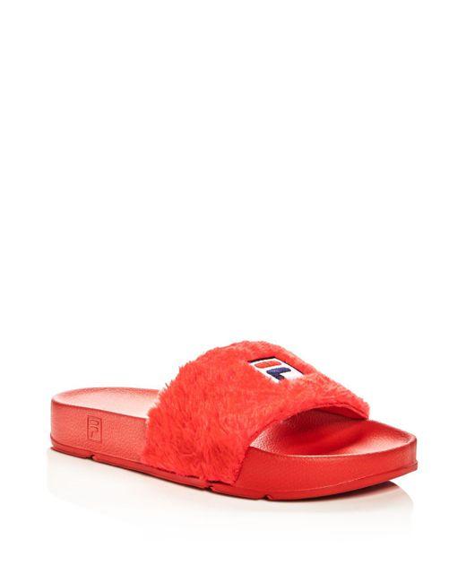 Baja East   Red X Fila Women's Pool Slide Sandals   Lyst