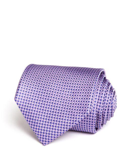 Bloomingdale's - Purple Micro Harlequin Classic Tie for Men - Lyst