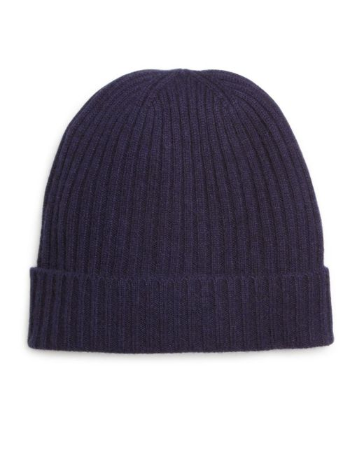 Bloomingdale's - Black Ribbed Cashmere Cuff Hat for Men - Lyst