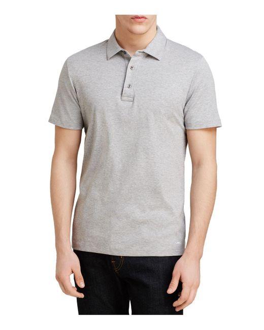 Michael Kors | Gray Sleek Slim Fit Polo Shirt for Men | Lyst