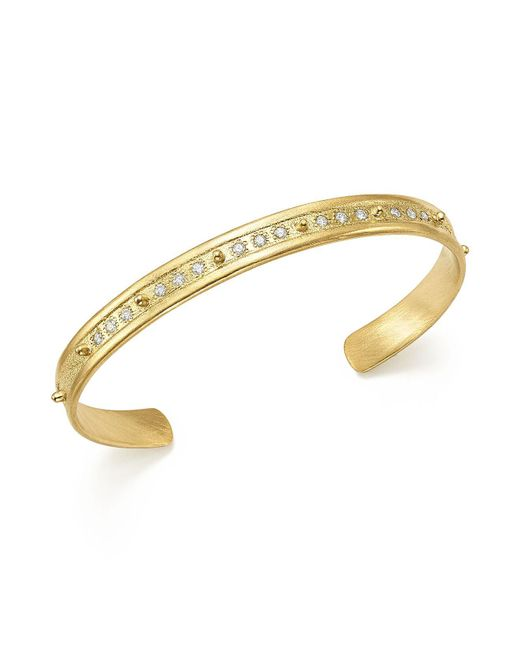 Armenta - Metallic 18k Yellow Gold Sueno Diamond Cuff - Lyst